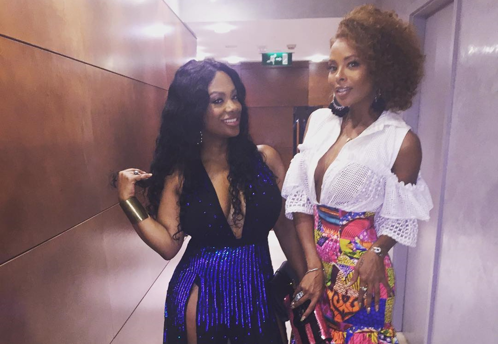 Kandi Burruss Gushes Over Eva Marcille Who Brought Her Baby Bump To Kandi's 'Welcome To The Dungeon' Show