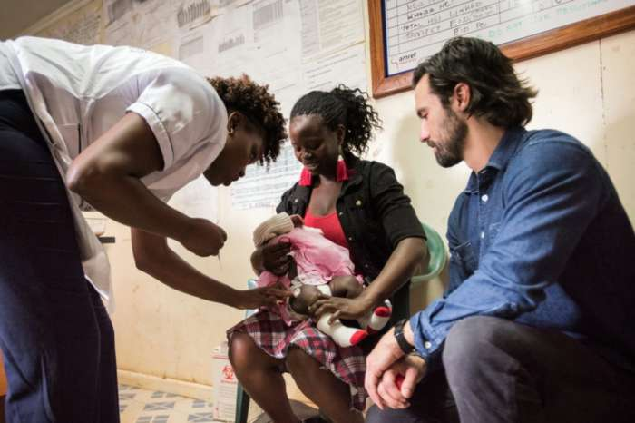 Milo Ventimiglia Visits A Vaccination Clinic In Kenya For Red Nose Day