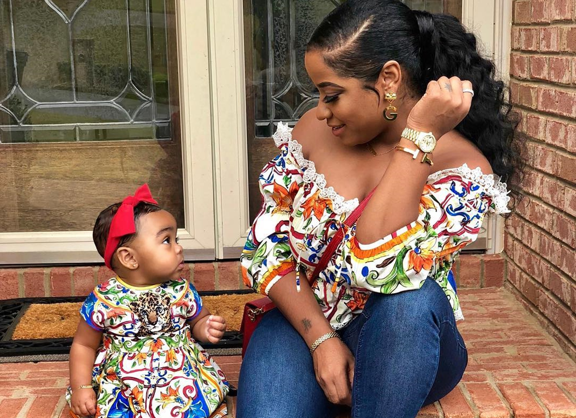 Toya Wright's Precious, Reign Rushing Just Had A Photo Session Which Made Fans' Day