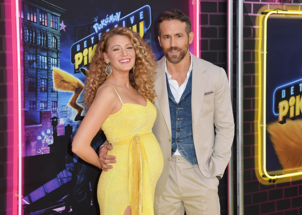 """pregnant-blake-lively-stuns-on-pokemon-detective-pikachu-yellow-carpet-with-husband-ryan-reynolds"""