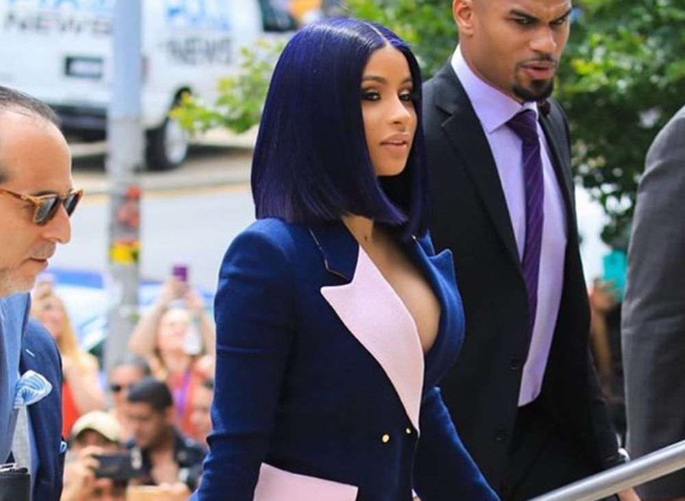 """cardi-b-wore-a-brogger-gurli-suit-to-court-her-hairstylist-and-makeup-artist-talk-the-look"""