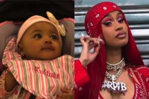 Cardi B Shows Off 100k Diamond Chain She Got Kulture For Her First Birthday - Check It Out!