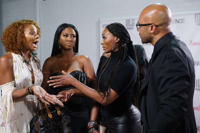 Eva Marcille And Cynthia Bailey Spotted Gossiping About Porsha Williams And Dennis McKinley Relationship While Filming At Kenya Moore's Barbie Party!