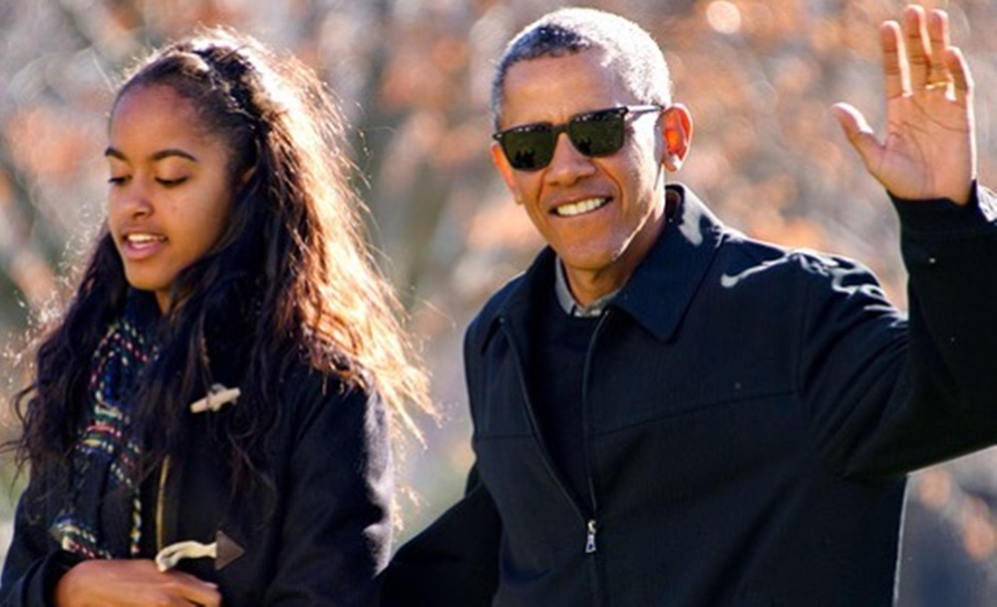 Malia Barack Obama Michelle France