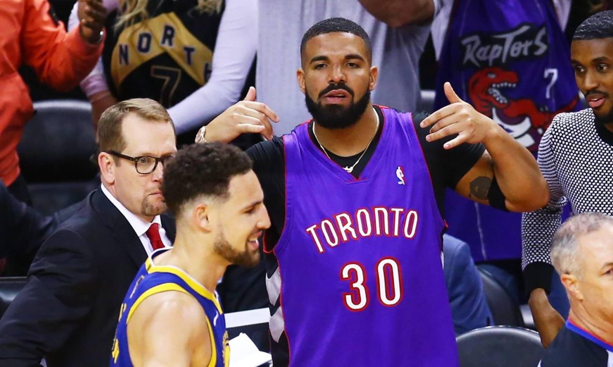 Drake Klay Thompson Trolling NBA Finals