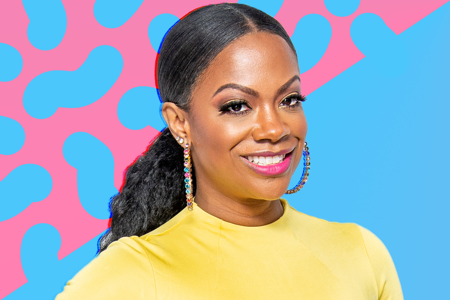 Kandi Burruss Stuns In Pink Bathing Suit And Pigtails ...