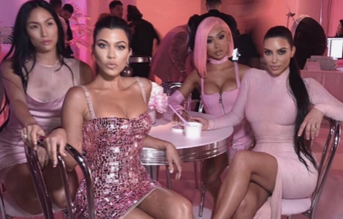aa967810 Kylie Jenner's Beauty Line Party Featured Kim Kardashian Eating Pink  Noodles, Kourtney And Others Decked Out In Pink