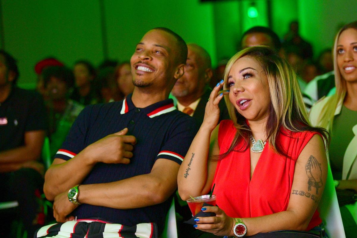 T.I. Makes Fun Of Tiny Harris' 'Lack Of Authority' Over Their Kids - See The Funny Video