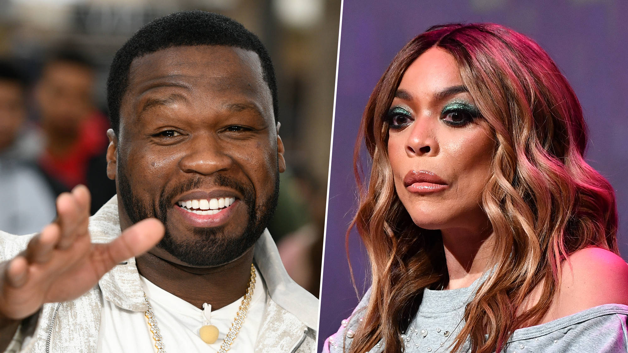Image result for 50 Cent stops Wendy Williams from entering his party