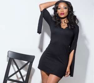 Erica Dixon Shows Off Her Stunning Figure After Giving Birth To Twins In Little Black Dress Picture