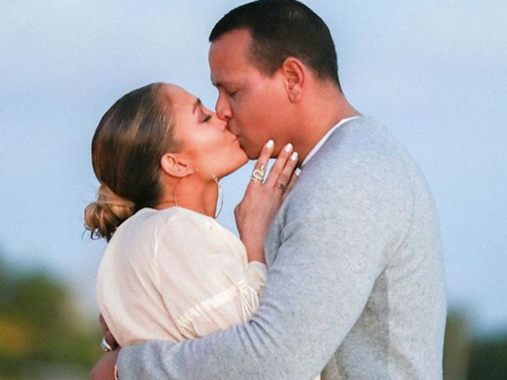 Alex Rodriguez Comforts A Tearful Jennifer Lopez After