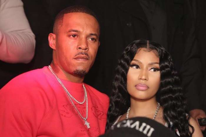 Nicki Minaj Looks Stunning In A Red Dress While Posing With Her Man, Kenneth Petty