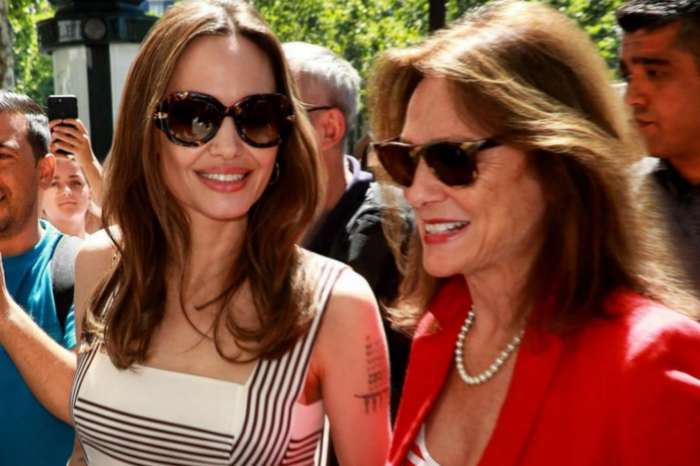 Angelina Jolie Stuns In Adina Reyter Jewelry While In Paris  For Guerlain With Godmother Jacqueline Bisset —Watch Her Arrival