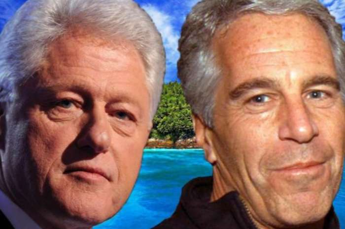 Painting Of Bill Clinton In A Blue Dress Wearing Red Heels Is Inside Jeffrey Epstein's Home