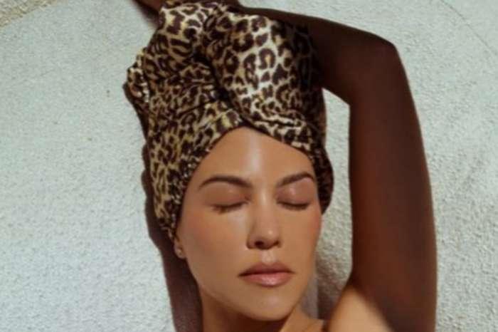 Kourtney Kardashian Praised For New Leopard-Print Hair-Drying Turban On Poosh