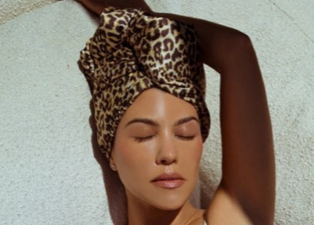 """kourtney-kardashian-praised-for-new-leopard-print-hair-drying-turban-on-poosh"""