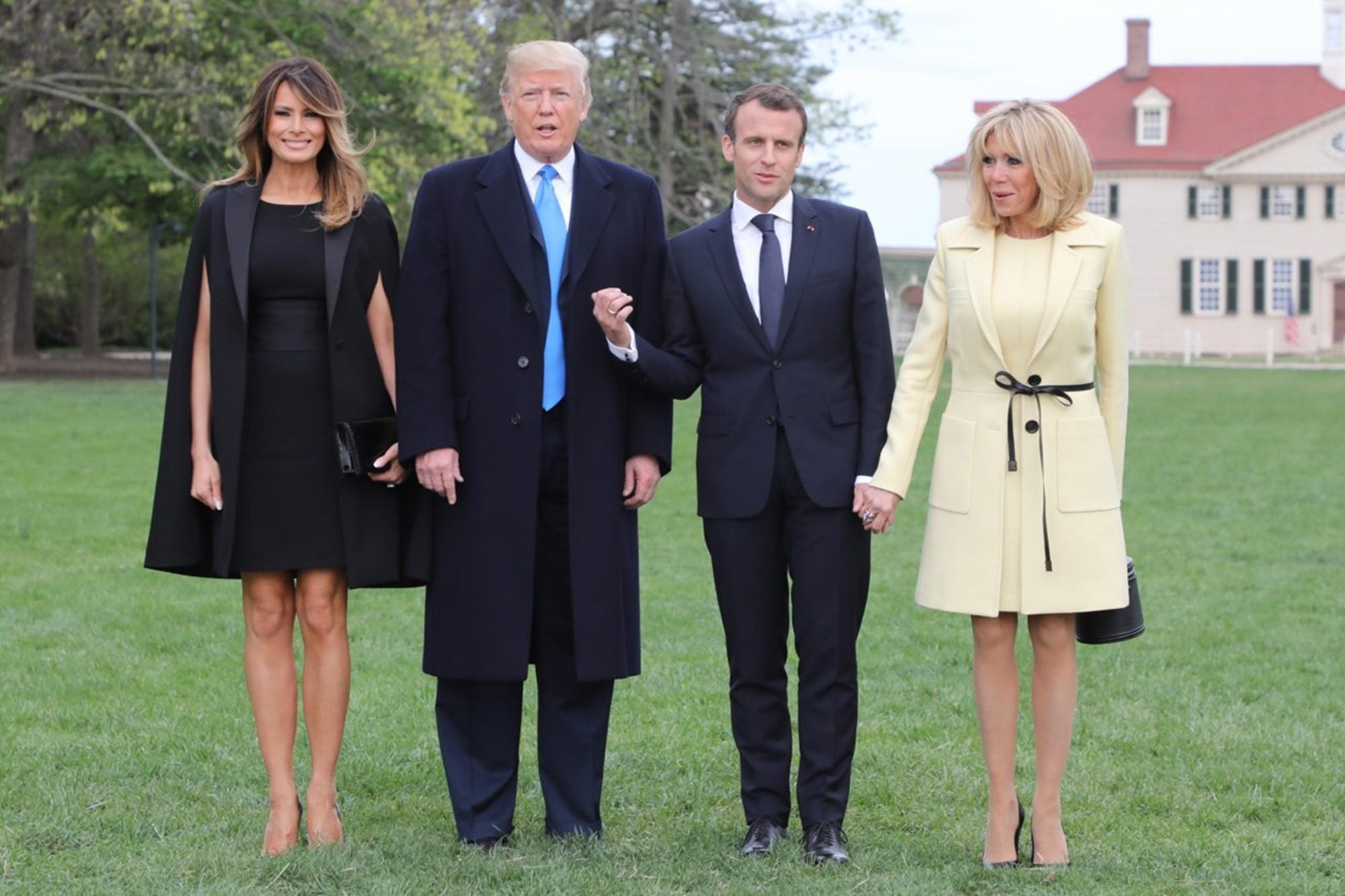 Melania Trump Donald Emmanuel Macron Brigitte