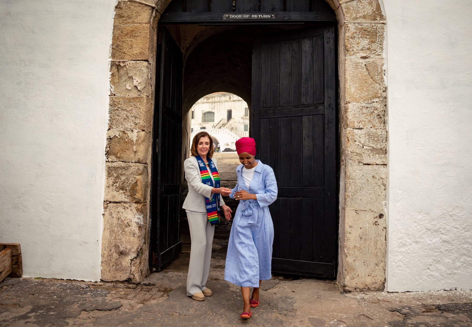 Nancy Pelosi Ilhan Omar Africa