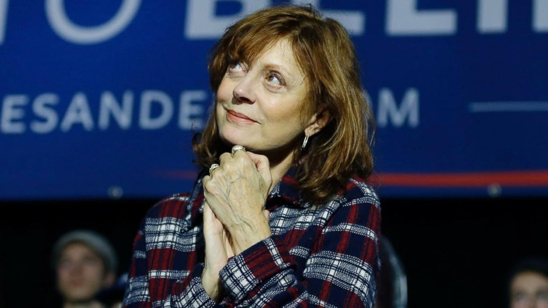 Susan Sarandon Bernie Sanders Elizabeth Warren Joe Biden