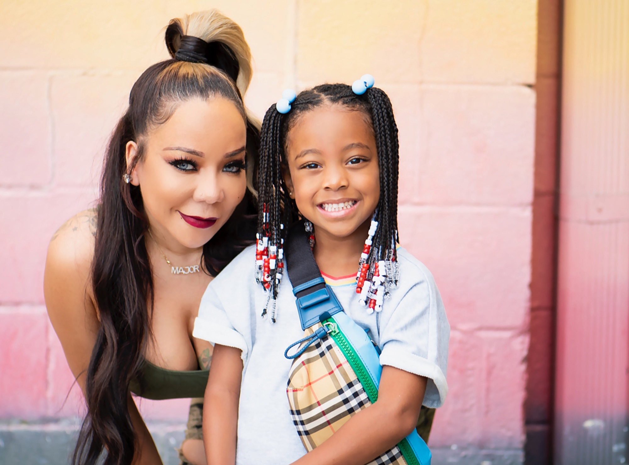 Tiny Harris And T.I. Gush Over Heiress Harris And Laiyah Brown - See These Cute Ladies Togehter