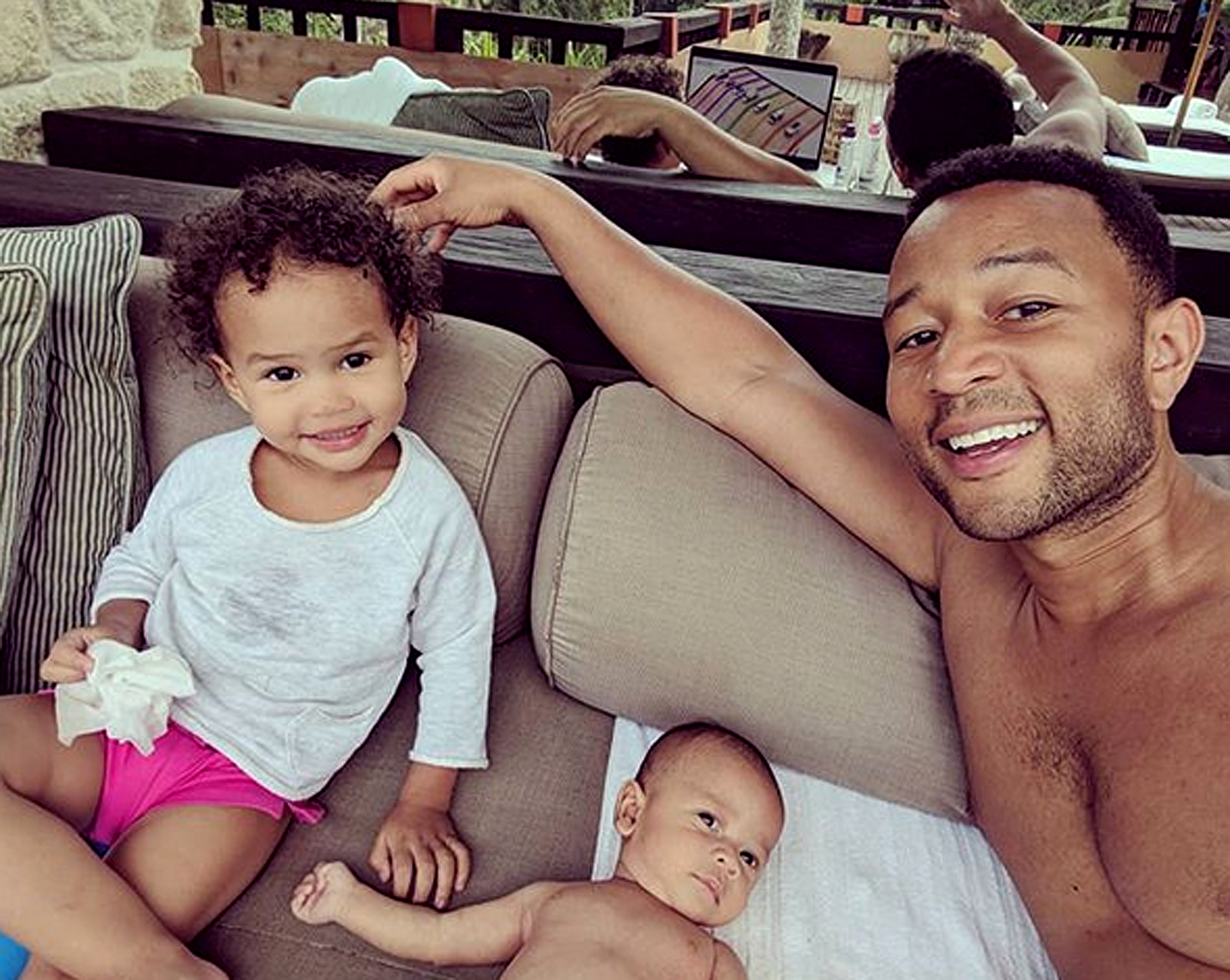 John Legend Poses With His Mini-Me - See The Photo Taken In Thailand