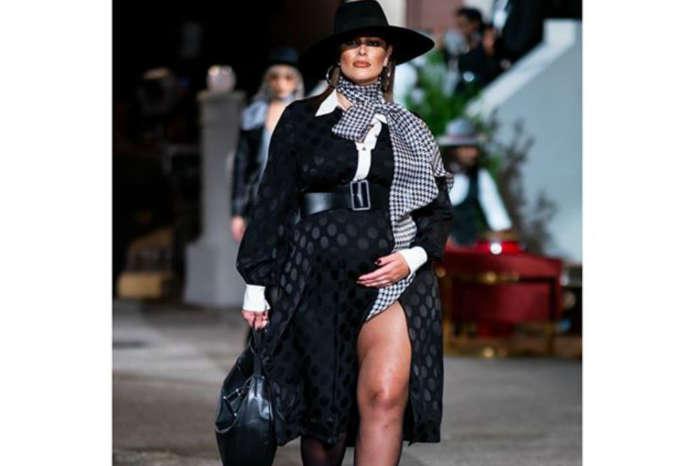 Pregnant Ashley Graham Walks The Runway At New York Fashion Week