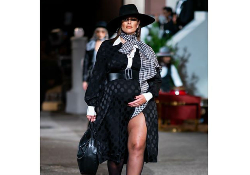 Pregnant Ashley Graham Walks The Runway At New York Fashion Week