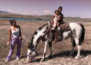 Kim Kardashian Shares Photos Of North And Chicago Horseback Riding On Kanye's New Wyoming Ranch