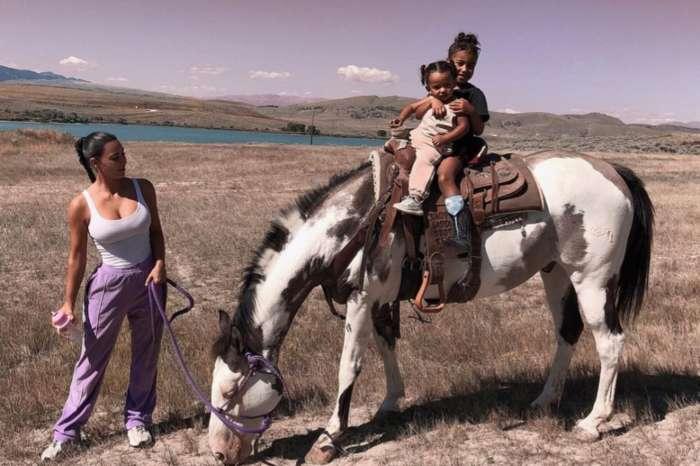 Kim Kardashian Shares Photos Of North And Chicago Horseback Riding On Kanye's New Wyoming Ranch
