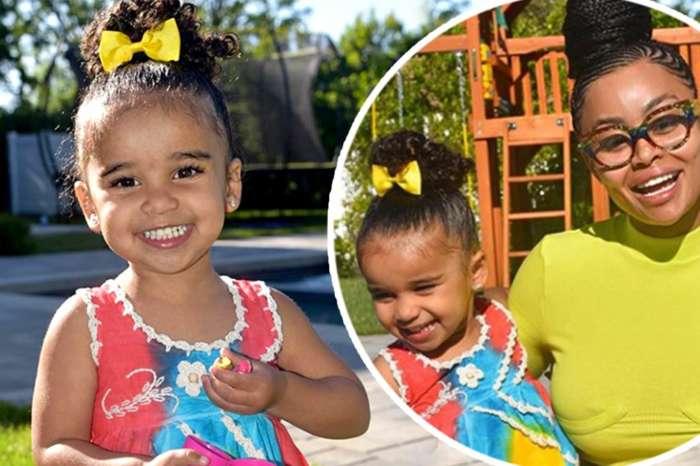 Blac Chyna And Rob Kardashian's Daughter, Dream Poses Next To Her Mom's Ferrari