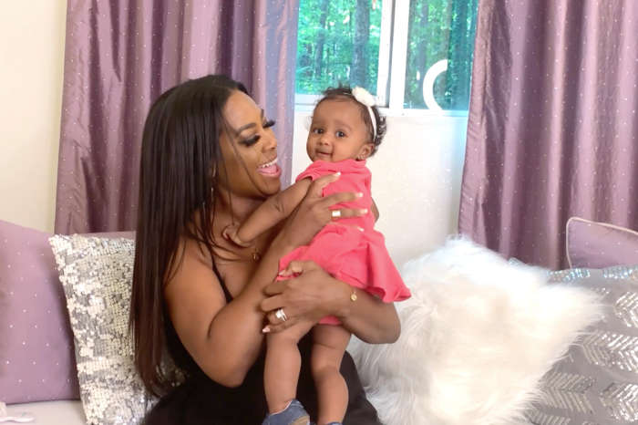 Kenya Moore's Miracle Baby Embraces Fall With A Smile