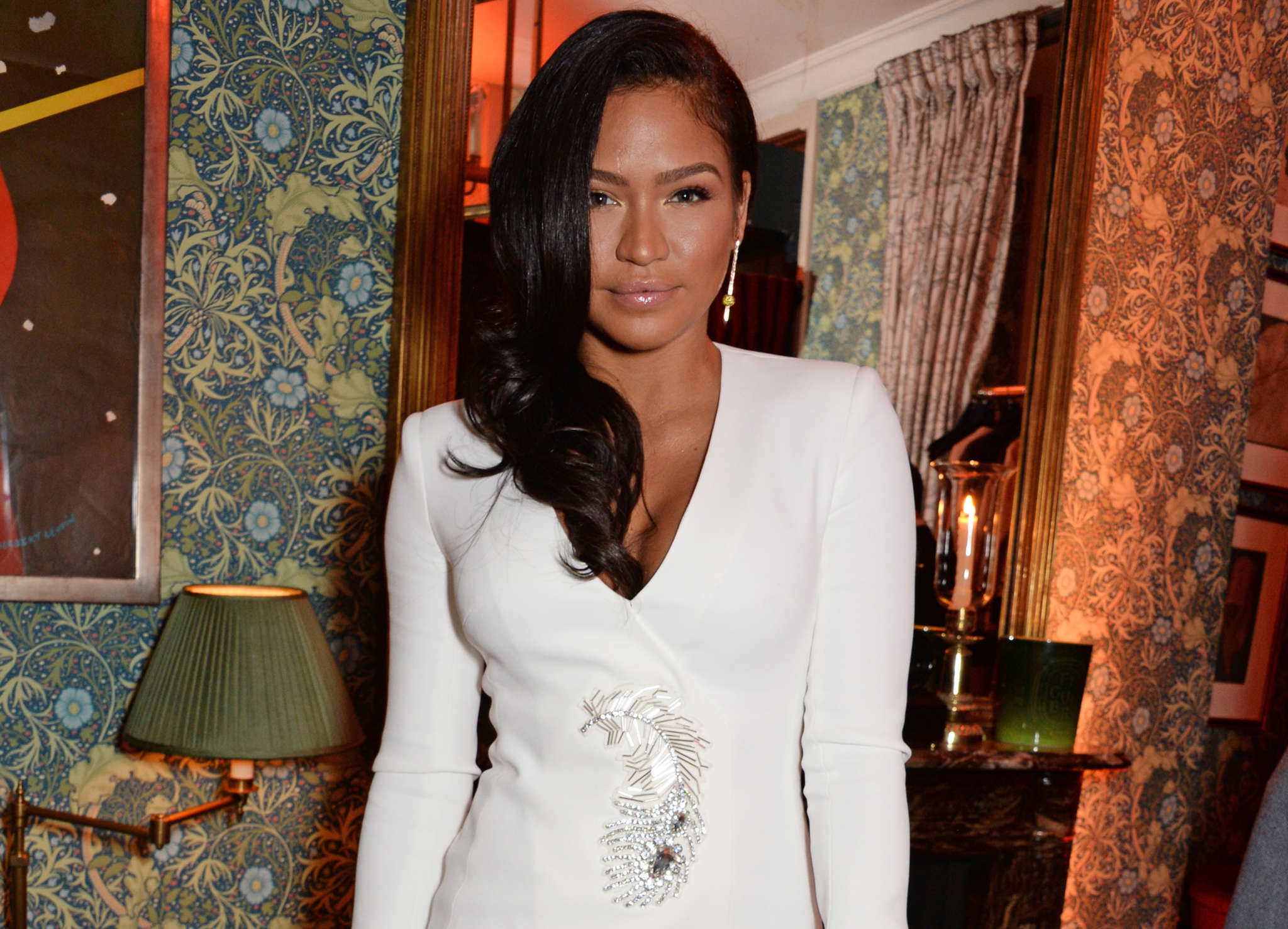 Cassie Impresses Fans With This Maternity Shot - She's Wearing Nothing But Fishnets And Heels