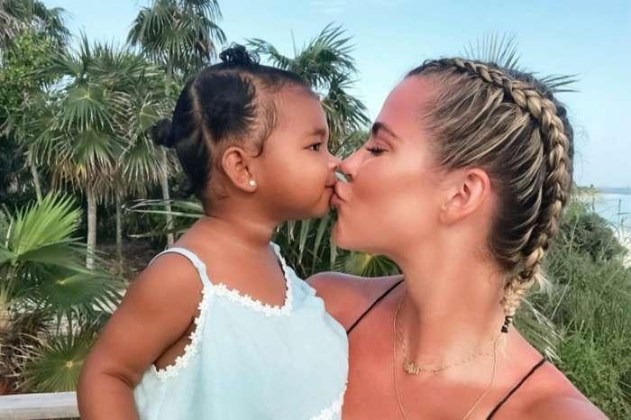 Khloe Kardashian Sweetly Kisses True As Tristan Thompson Leaves A Comment