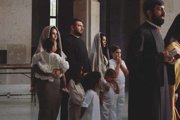 Kim Kardashian Gets Baptized In Armenia With Children And Kourtney Kardashian