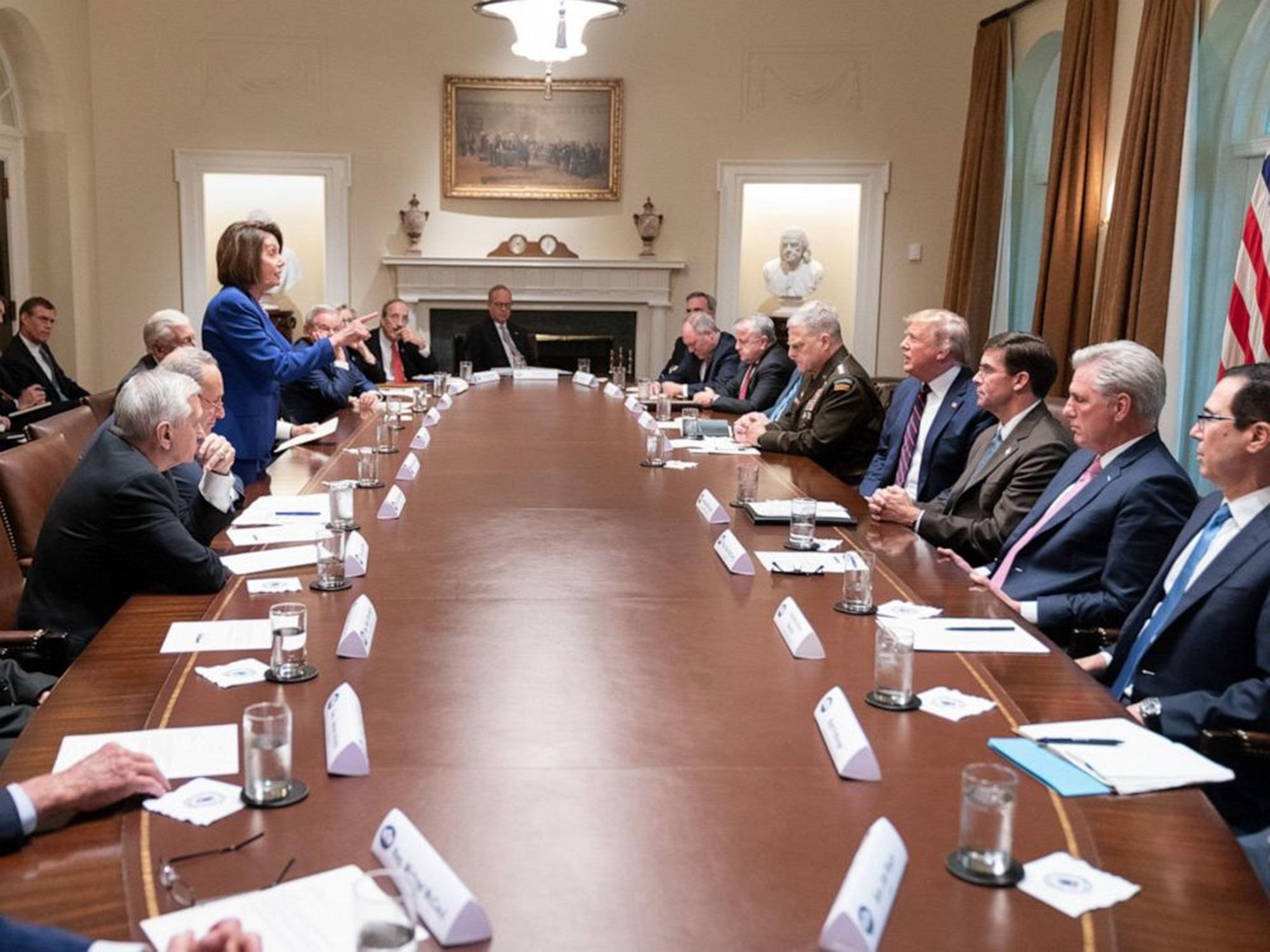 Nancy Pelosi Donald Trump Syria Meeting
