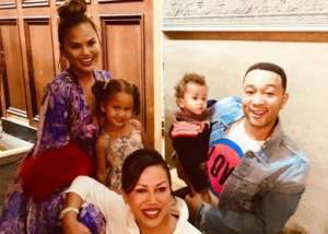 Chrissy Teigen Shares Family Photo As Jenna Fischer Responds To Her Viral Tweet About Pam And Jim Getting Divorced