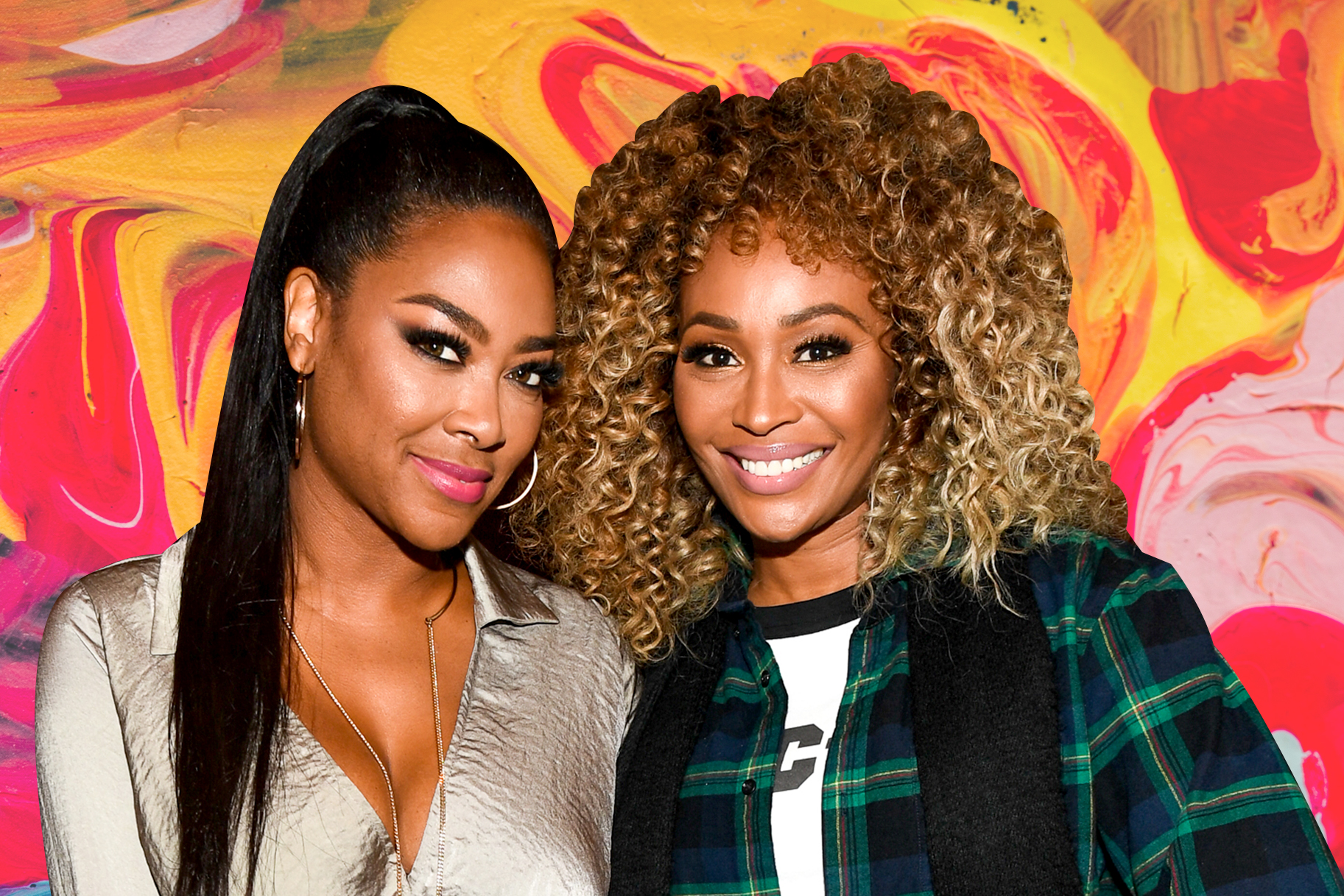 Cynthia Bailey Poses With Kenya Moore But The Spotlight Is Stolen By Baby PJ And Brookie