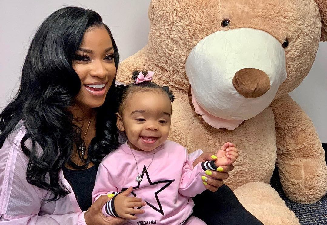 Toya Wright Lost A Bet And She Apologizes To Her Baby Girl, Reign Rushing - See What's This All About