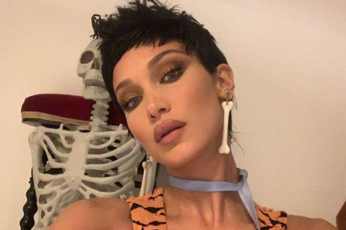 Bella Hadid Is Fred Flintstone For Halloween But Everyone's Calling Her Halle Berry's Character Sharon Stone