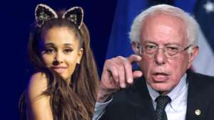 Ariana Grande Meets Her 'Guy' Bernie Sanders And Says She'll 'Never Smile This Hard Again' - See The Iconic Pics!