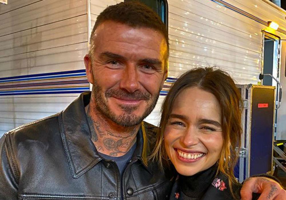 David Beckham Admits He Was 'Star Struck' When He Met Emilia Clarke