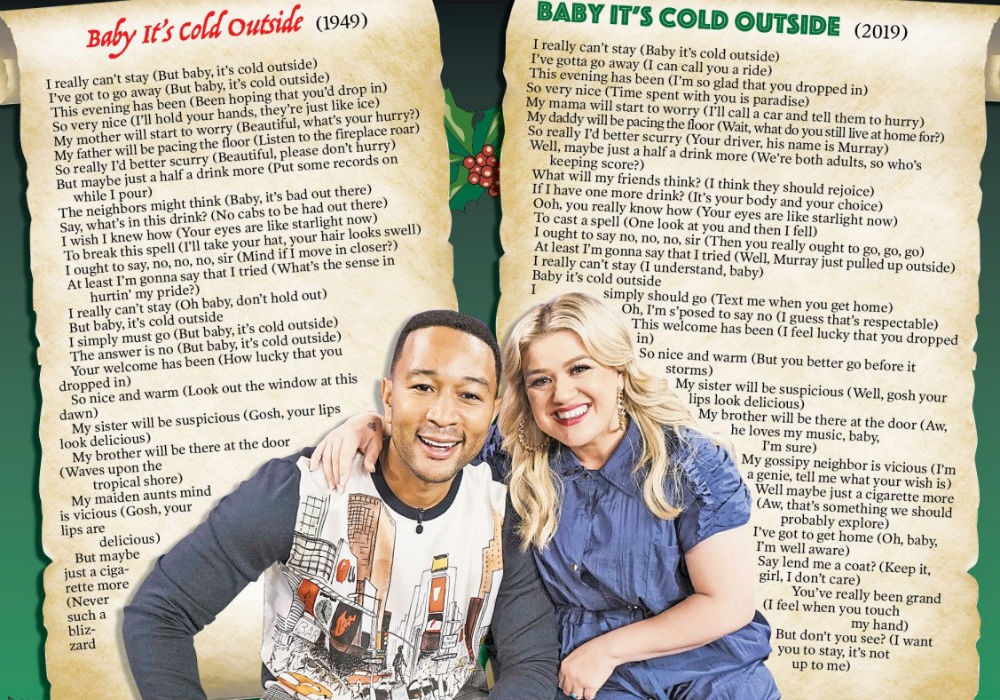 John Legend & Kelly Clarkson's 2019 Woke Version of Baby, It's Cold Outside Is Here And The Reviews Are Terrible