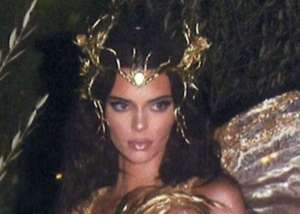 Kendall Jenner Revisits Her Halloween Forest Fairy Costume And Photobomber — Check Out Her Rinaldy Yunardi Crown