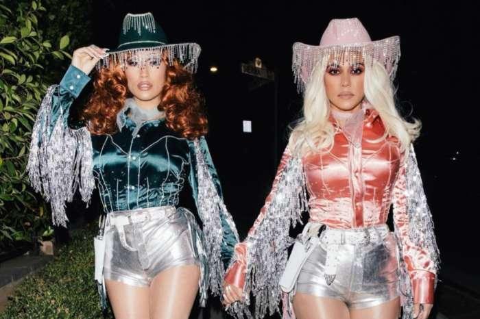 Kourtney Kardashian Stuns As Vampira And Cowgirl With Friend Stephanie Shepherd For Halloween