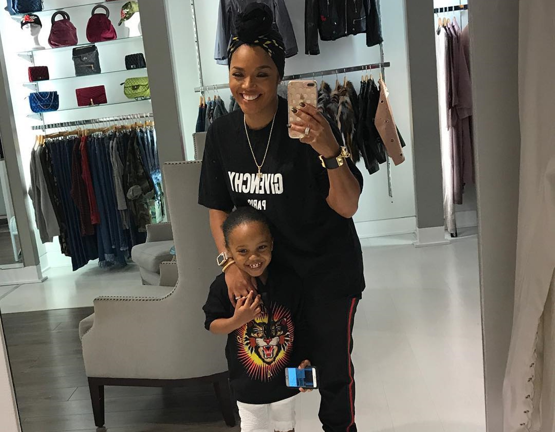 Rasheeda Frost Brings Her Son, Karter Frost To Her Pressed Boutique