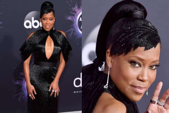 Oscar Winner Regina King Is Exquisite In Shimmery Black Ashi Studio Couture Dress At American Music Awards