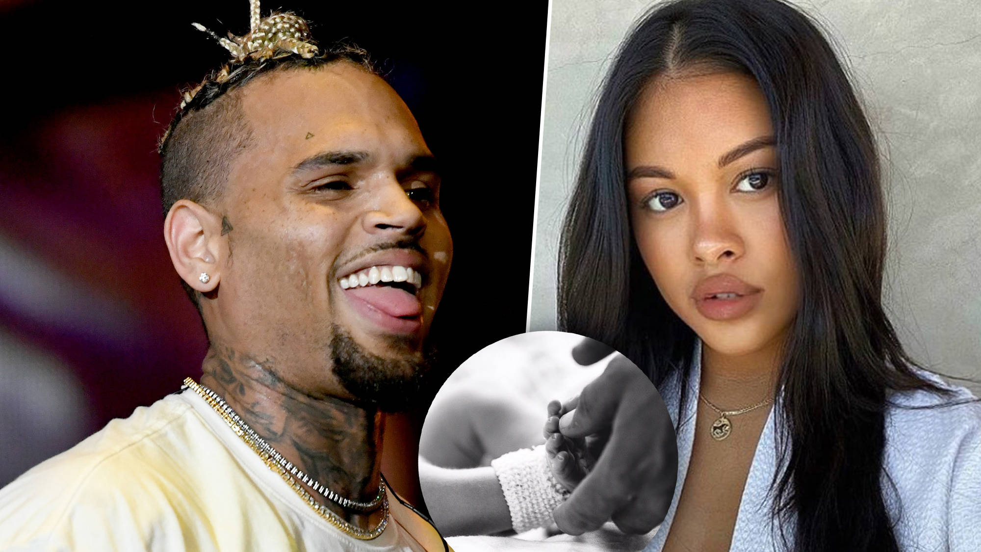 Chris Brown Reveals First Full Picture Of Newborn Son Aeko Catori