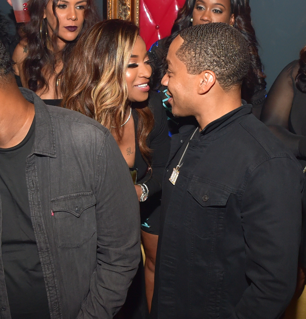 Toya Wright Looks Gorgeous In Red Leather Courtside For Robert Rushing's Birthday - Kandi Burruss And Riley Were Also Present