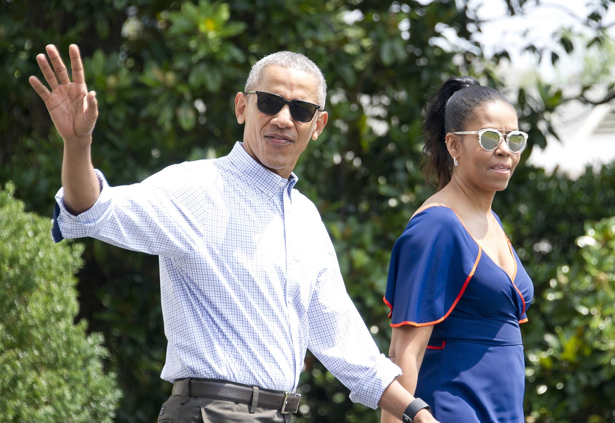 Barack Obama Michelle Sasha Malia