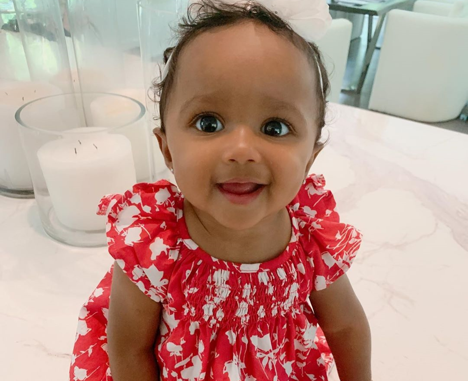 Kenya Moore's Baby Girl, Brooklun Daly Has Two Teeth Coming In - See The Cute Photo